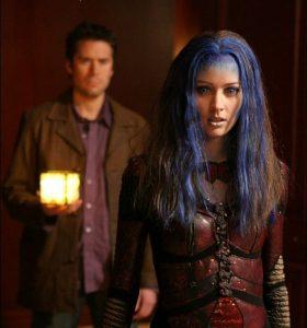ANGEL Alexis Denisof as Wesley Wyndam Pryce Amy Acker as Winifred Burkle Illiyria the WB