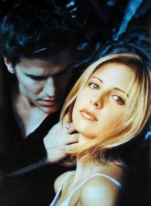 BUFFY David Boreanaz as Angel Sarah Michelle Gellar as Buffy Summers the WB