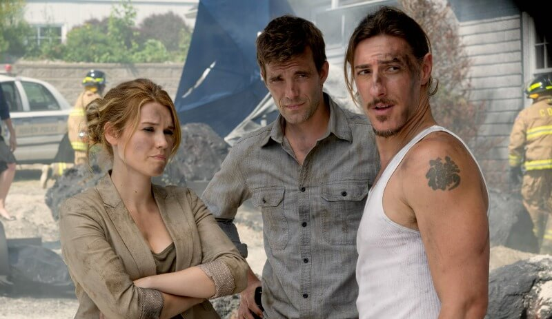 HAVEN The Trouble with Troubles 4x10 Emily Rose as Audrey Parker Lucas Bryant as Nathan Wuornos Eric Balfour as Duke Crocker Syfy