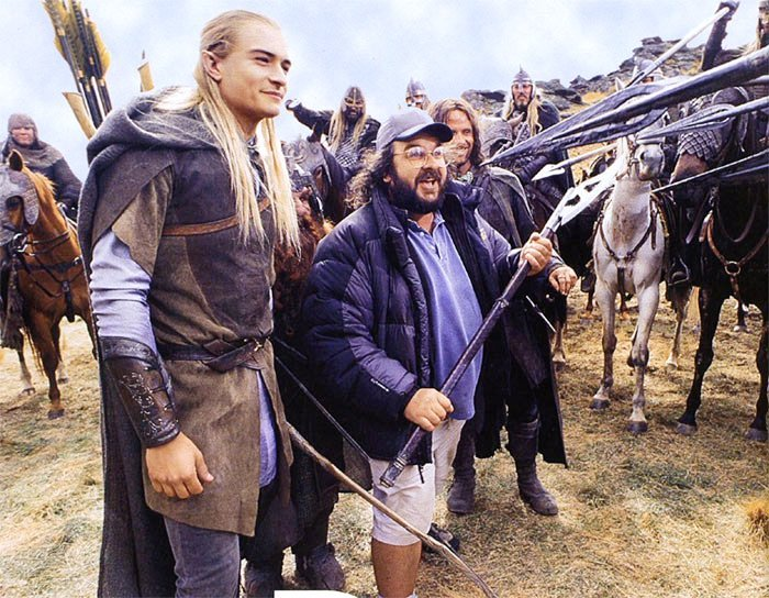 LORD OF THE RINGS THE TWO TOWERS behind the scenes Orlando Bloom as Legolas Peter Jackson Newline