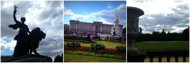 London Buckingham Palace collage
