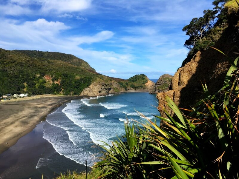 New Zealand Piha beach