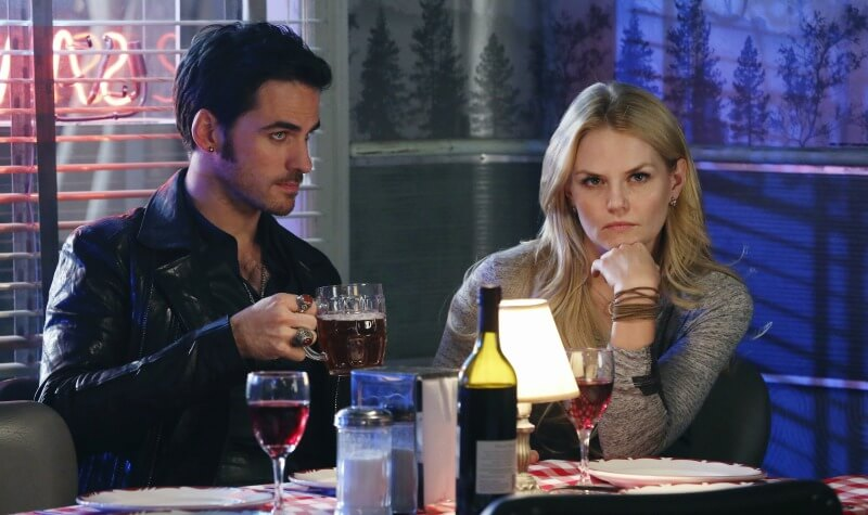 ONCE UPON A TIME Heroes and Villains 4x12 Colin ODonoghue as Captain Hook Jennifer Morrison as Emma Swan ABC