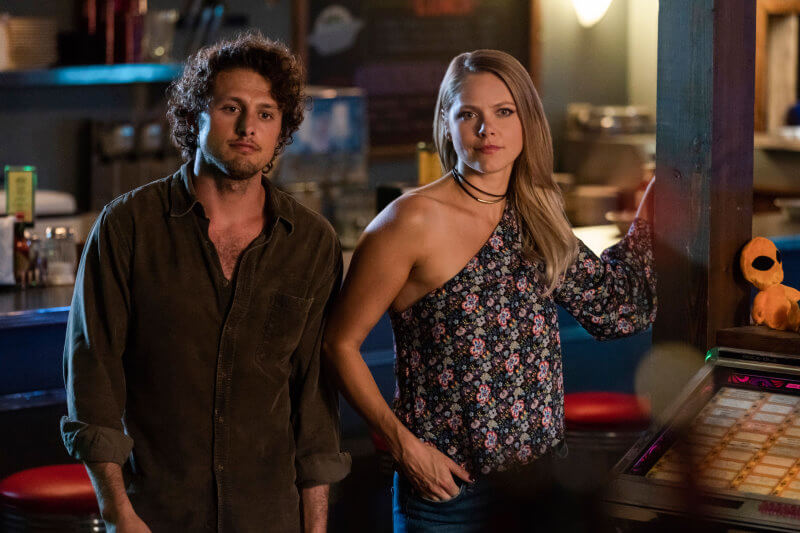 ROSWELL NEW MEXICO So Much for the Afterglow 1x02 Michael Vlamis as Michael Guerin Lily Cowles as Isobel Evans Bracken The CW