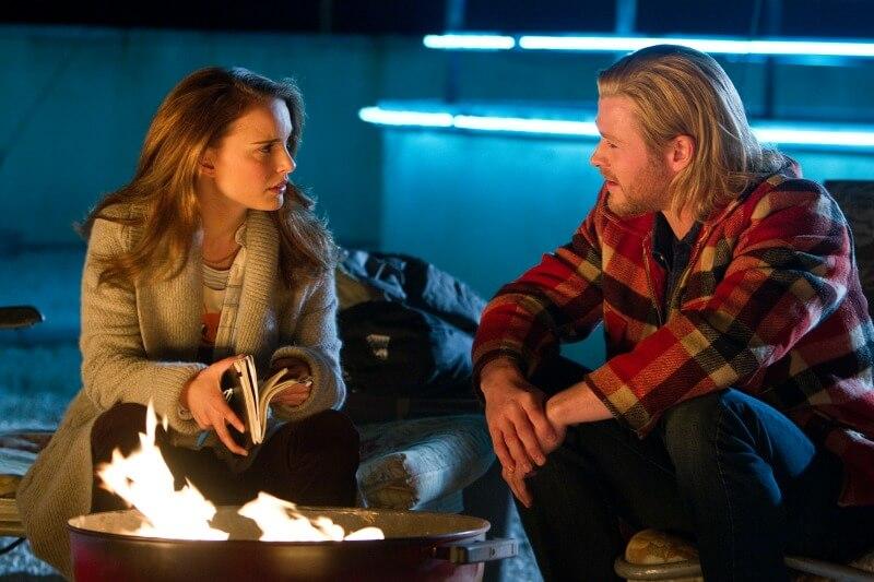 THOR Natalie Portman as Jane Foster Chris Hemsworth as Thor DisneyMarvel