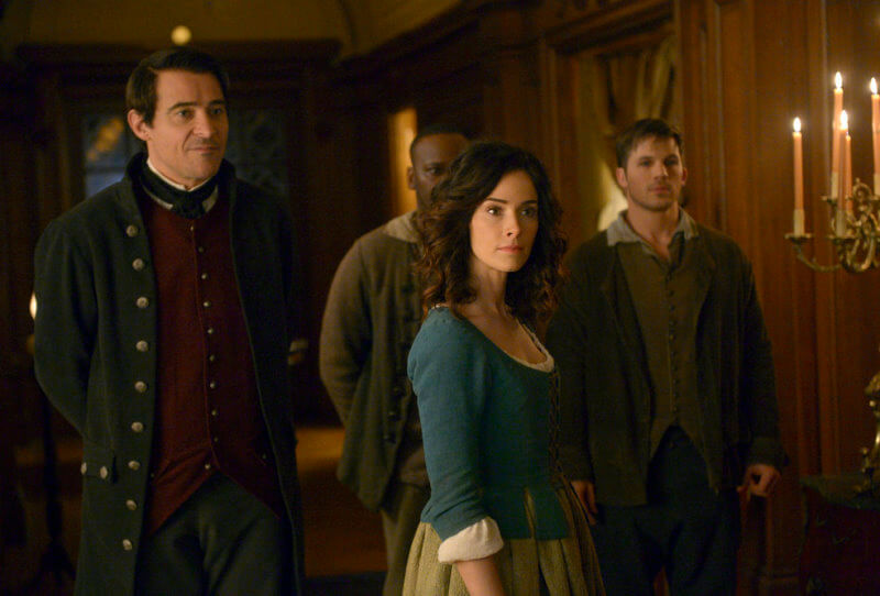 TIMELESS The Capture of Benedict Arnold 1x10 Malcolm Barrett as Rufus Carlin Abigail Spencer as Lucy Preston Goran Visnjic as Garcia Flynn Matt Lanter as Wyatt Logan UniversalNBC