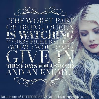 Tattered Heart quote queen